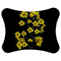 Sunflowers Over Black Jigsaw Puzzle Photo Stand (Bow)