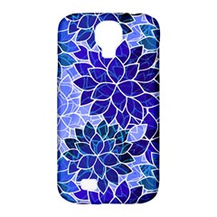 Azurite Blue Flowers Samsung Galaxy S4 Classic Hardshell Case (pc+silicone)