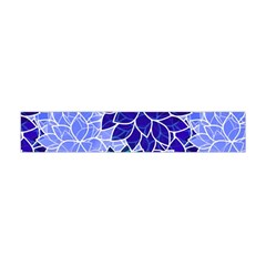 Azurite Blue Flowers Flano Scarf (mini)