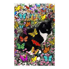 Freckles In Butterflies I, Black White Tux Cat Shower Curtain 48  x 72  (Small)
