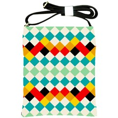 Rhombus pattern                                                              Shoulder Sling Bag