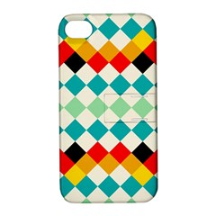 Rhombus Pattern                                                              			apple Iphone 4/4s Hardshell Case With Stand