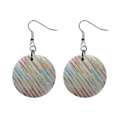 Diagonal stripes painting                                                               1  Button Earrings