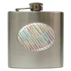 Diagonal stripes painting                                                               			Hip Flask (6 oz)