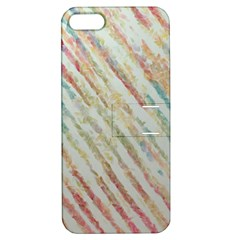 Diagonal stripes painting                                                               			Apple iPhone 5 Hardshell Case with Stand