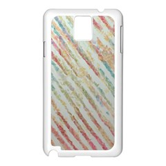 Diagonal stripes painting                                                               			Samsung Galaxy Note 3 N9005 Case (White)