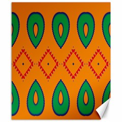 Rhombus and leaves                                                                Canvas 8  x 10