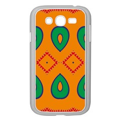 Rhombus and leaves                                                                			Samsung Galaxy Grand DUOS I9082 Case (White)