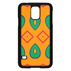 Rhombus and leaves                                                                Samsung Galaxy S5 Case (Black)