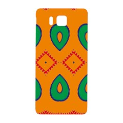 Rhombus And Leaves                                                                			samsung Galaxy Alpha Hardshell Back Case