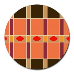Shapes and stripes                                                                 			Round Mousepad