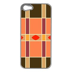 Shapes and stripes                                                                 			Apple iPhone 5 Case (Silver)