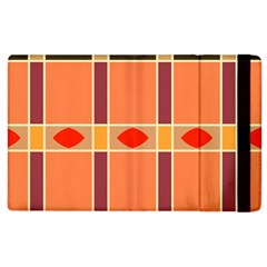 Shapes and stripes                                                                 			Apple iPad 3/4 Flip Case