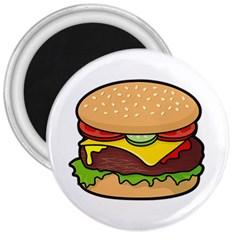 Cheeseburger 3  Magnets