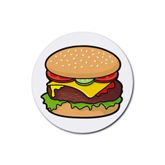 Cheeseburger Rubber Round Coaster (4 pack)