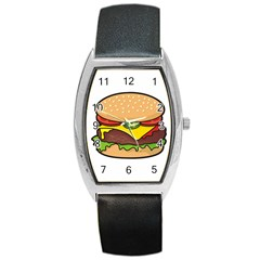 Cheeseburger Barrel Style Metal Watch