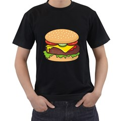 Cheeseburger Men s T-Shirt (Black) (Two Sided)