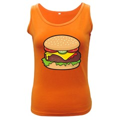 Cheeseburger Women s Dark Tank Top