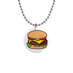 Cheeseburger Button Necklaces