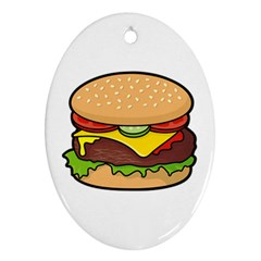 Cheeseburger Oval Ornament (Two Sides)