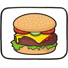 Cheeseburger Double Sided Fleece Blanket (Mini)