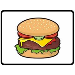 Cheeseburger Fleece Blanket (Large)