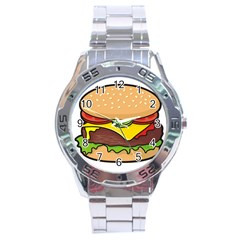 Cheeseburger Stainless Steel Analogue Watch