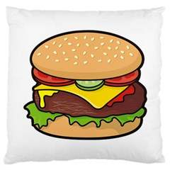 Cheeseburger Large Cushion Case (Two Sides)