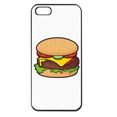Cheeseburger Apple iPhone 5 Seamless Case (Black)
