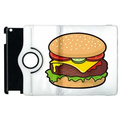 Cheeseburger Apple iPad 2 Flip 360 Case