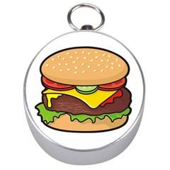Cheeseburger Silver Compasses