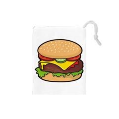 Cheeseburger Drawstring Pouches (Small)