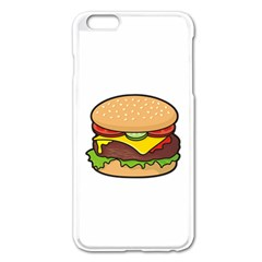 Cheeseburger Apple Iphone 6 Plus/6s Plus Enamel White Case