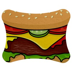 Cheeseburger Jigsaw Puzzle Photo Stand (Bow)