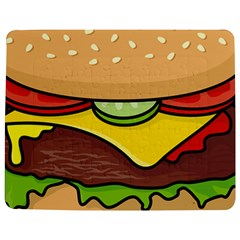 Cheeseburger Jigsaw Puzzle Photo Stand (Rectangular)