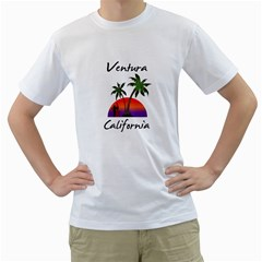 Ventura California Men s T Shirt (white)
