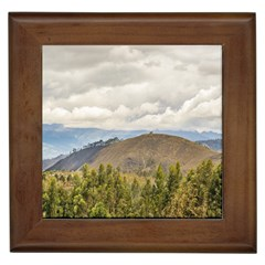 Ecuadorian Landscape At Chimborazo Province Framed Tiles