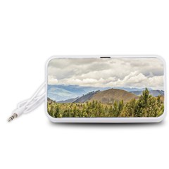 Ecuadorian Landscape At Chimborazo Province Portable Speaker (White)