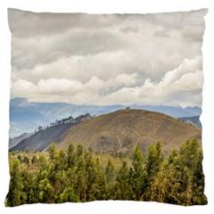 Ecuadorian Landscape At Chimborazo Province Large Cushion Case (Two Sides)