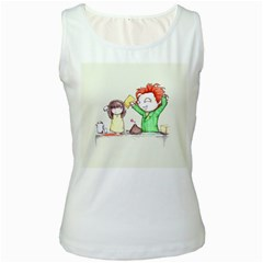 Mud Pies  Women s White Tank Top