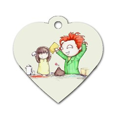 Mud Pies  Dog Tag Heart (Two Sides)