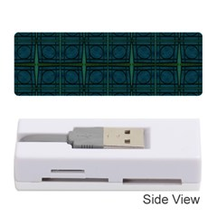 Dark Blue Teal Mod Circles Memory Card Reader (Stick)