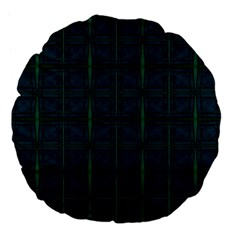 Dark Blue Teal Mod Circles Large 18  Premium Flano Round Cushions