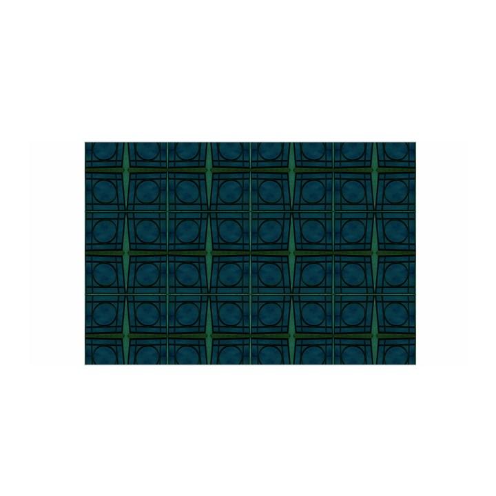 Dark Blue Teal Mod Circles Satin Wrap