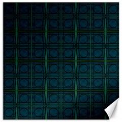 Dark Blue Teal Mod Circles Canvas 16  x 16