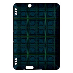 Dark Blue Teal Mod Circles Kindle Fire Hdx Hardshell Case