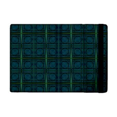 Dark Blue Teal Mod Circles iPad Mini 2 Flip Cases
