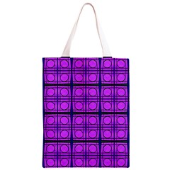 Bright Pink Mod Circles Classic Light Tote Bag