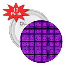 Bright Pink Mod Circles 2.25  Buttons (10 pack)