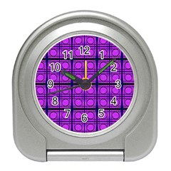 Bright Pink Mod Circles Travel Alarm Clocks